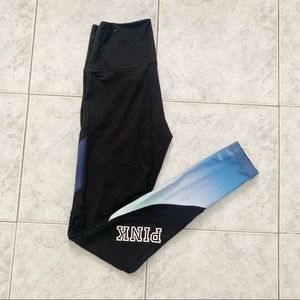 VS PINK BLUE/BLACK CAMPUS HIGH WAISTED LEGGINGS XS